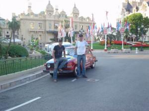Vi utanför Casinot i Monte Carlo